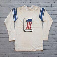 Vintage 60s 70s Harley Davidson Racing Jersey Size M Champion Blue Bar Knit