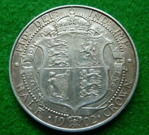 1902 EDWARD VII HALFCROWN   - FINE+
