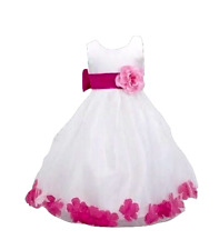 REDUCED TO CLEAR  Formal Bridesmaid Princess Petals Dress
