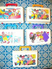 NEW Set of 5 Vintage 1987 MCDONALD'S HAPPY MEAL LUNCH BOX CASES Ronald Grimace