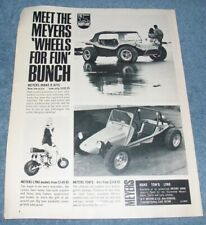 """1969 Meyers Kit Cars and Bikes Vintage Ad """"Manx Lynx Tow'd Dune Buggy"""