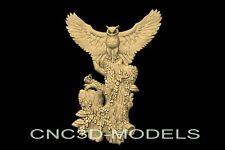 3d Model Stl For Cnc Router Engraver Carving Artcam Aspire Owl Hunt Hunting N923