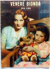 CINEMA ILLUSTRAZIONE N.2 1933 HOLLYWOOD VENERE BIONDA MARLENE DIETRICH