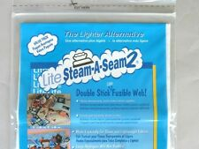 "Warm Co Lite Steam-A-Seam 2 Double Stick Fusible Web 9"" x 12"" Sheets, 5 Per Pack"