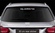 Rear Window Sticker fits Audi Quattro Vinyl Decal Car Emblem Sticker Logo RW75