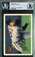 Mike Mussina Bas Beckett Coa Autograph 1994 Fleer Authentic Hand Signed