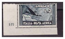 REGNO 1934   -  ESPRESSO AEREO  LIRE 2   -  NUMERO DI TAVOLA   NUOVO **