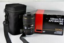 Sigma APO Macro 150mm f/2.8 EX DG Lens for Nikon D50 D100 D200 D90 D300 boxed