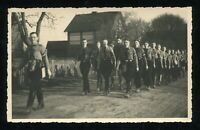 Original 1936 Germany 3rd Reich Photo Postcard Hitler German Party March RPPC