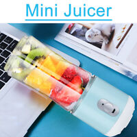 400ML USB Rechargeable Electric r Blender 6 Blades Smoothie Maker