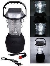 3 Mode 36 LED Hand Crank Solar Lantern Bright Rechargeable Outdoor Camping Light