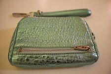 Alexander Wang Fumo Metallic Zip-Around Italian Lambskin Wristlet Wallet
