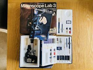 Thomas Salter Science Vintage Microscope Lab 3 Set Retro Collectable Biology