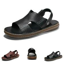 Mens Beach Sandals Shoes Slingbacks Outdoor Sports Slip on Cut out Flats Sand L