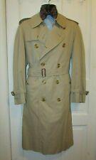 BURBERRY Men's Double Breast Raincoat Beige TRENCH Coat 48 Reg