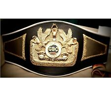 GBC Global Boxing council Championship replica belt adult size metal plates