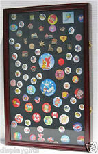 LARGE Lapel Pin Medal Patches Ribbon Display Case Wall Shadow Box, PC04-CH