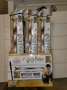 Full Box of 9 Sealed Harry Potter Mystery Wand Professor Series with display box