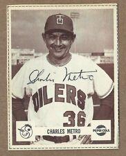 1966 Pepsi  Charles Metro  Tulsa Oilers    Rare!?