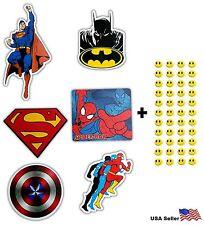 6 Skateboard Stickers Superhero Marvel Batman Spiderman Vinyl Laptop Car Decal