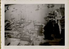 Vintage Photo harbor with tons of boats and ships Palermo Sicily world war 2
