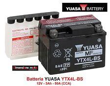 """Batteria YUASA YTX4L-BS 12V 3Ah """"MF"""" Sigillata per Honda ZX 50 Dio fino al 1993"""