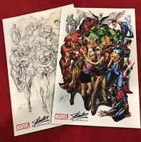 Avengers #1 SDCC J Scott Campbell Color & Sketch Variant Set Stan Lee SPIDER-MAN