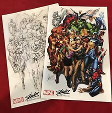 Avengers #1 SDCC J Scott Campbell Color & Sketch Variant Set Stan Lee