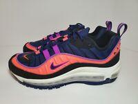 Nike Air Max 98 (GS) Athletic Shoes Blue Ember #BV4872-401 Kids Sz 6Y/Womens 7.5