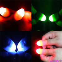 5 x LED Finger Thumbs Light Magic Trick Prop Party Bar Flashlight Magician Kit
