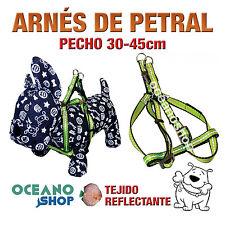 ARNÉS PETRAL VERDE TEJIDO REFLECTANTE AJUSTABLE PERRO PECHO 30-45cm L75 3366