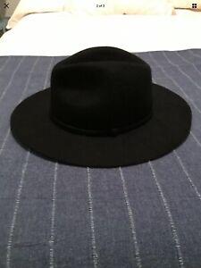 J. Crew Black Wool Felt Hat Women's Size Small/Medium