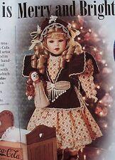 Franklin Mint Coca Cola Heirloom Doll Sarah + COA NIB & COMPLETE