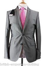 "BNWT Holland Esquire Grey ""Narrow Twinstripe""  Shiny TONIC Wool Suit"