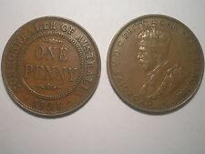 """1931 Penny """"Dropped 1"""" VF Scarce Grade"""