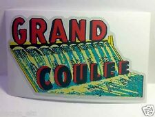 Grand Coulee Dam Vintage Style Travel Decal / Vinyl Sticker, Luggage Label