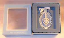 New Wedgwood Blue White Jasperware Our First Home 2007 Christmas Tree Ornament