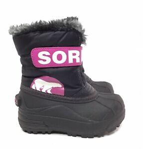 SOREL Kids Commander Winter Snow Boot Size 6 Toddler