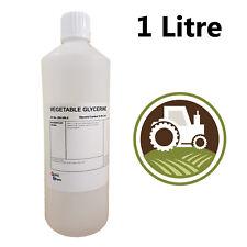 Glycérine Végétale - 99.5% - 1L Litres - Nourriture et Cosmétique Grade