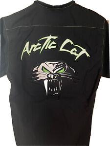 Arctic Cat Men's Green Thread Shop Pit Shirt. Dealer Shirt Men's Small.