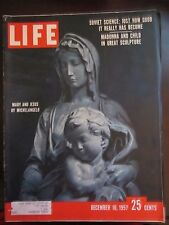 Life Magazine Mary and Jesus By Michelangelo December 1957