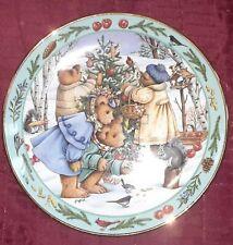 Franklin Mint Royal Doulton Teddy Bear Forest Feast Limited Edition Decor Plate