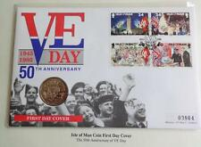 1995 B/U ISLE OF MAN ROYAL BRITISH LEGION £2 COIN PNC + COA  50th AN VE DAY