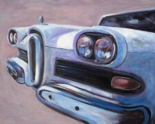 EDSEL 1, very collectible fine art car oil painting, one-of-a-kind signed Helvey