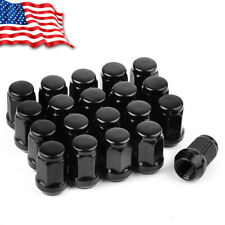 20 Acorn Bulge Wheel Lug Nuts 9/16-18 Black for Dodge Dakota Durango Ram 1500