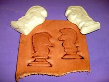 """Chess Knights Matched Pair Emboss Plates  1 1/2"""" x 2 1/2"""" Each"""