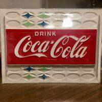 Vintage 1960s Coca Cola Vending Machine Insert Molded Plastic Coke 11 x 14.75