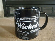 "HALLOWEEN ""SOMETHING WICKED THIS WAY COMES"" 20 OZ COFFEE MUG CUP NEW HUGE RARE!!"