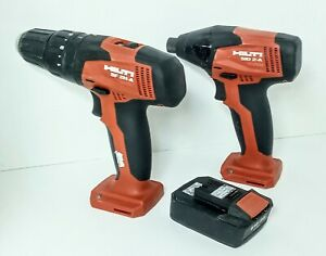 "HILTI SF 2H-A Hammer Drill Driver Li-Ion 3/8""and SID 2-A Driver 1 Battery"