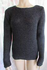 Vintage KASPER  Womens  Back/Sliver Long Sleeve Pull On  Sweater  size L